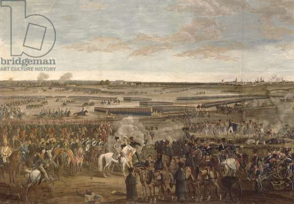The Battle of Leipzig, detail of Napoleon in the foreground, 18th Ocober 1813 (gouache on paper) (see 203343)