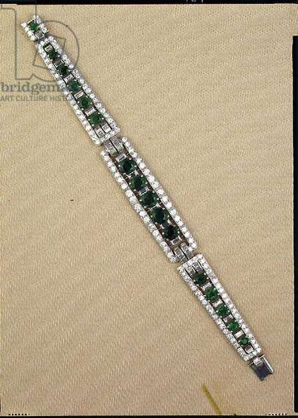Emerald and Diamond bracelet by Cartier, 1940