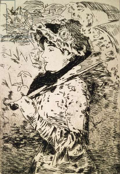 Spring (Jeanne), 1882 (etching and aquatint)