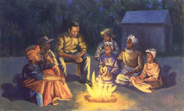Campfire Stories, 2003 (oil on board)
