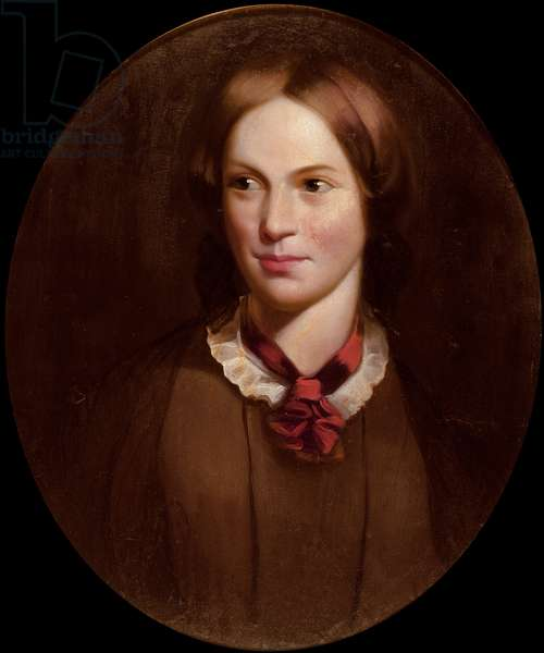 Portrait of Charlotte Bronte (1816-55) (oil on canvas)