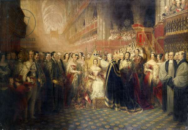 The Coronation of Queen Victoria, 1838 (oil on canvas)
