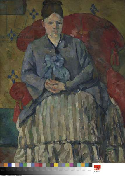 Madame Cezanne in a Red Armchair, c.1877 (oil on canvas)