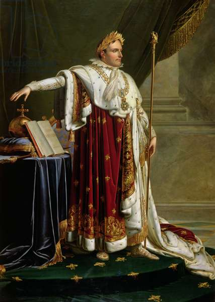 Portrait of Napoleon Bonaparte (1769-1821) (oil on canvas)