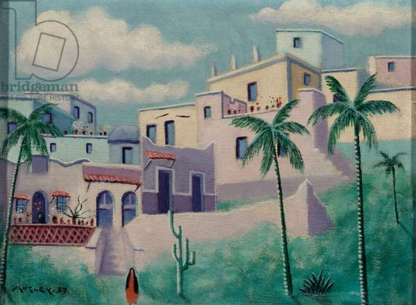 Guanajato, Mexico, 1957 (oil on canvas)