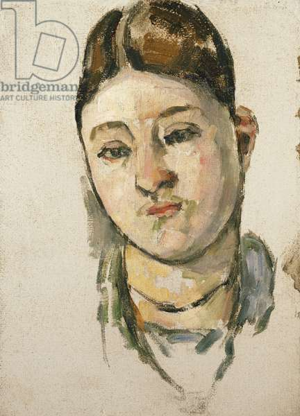 Portrait of Madame Cezanne; Portrait de Madame Cezanne, c.1883 (oil on canvas)