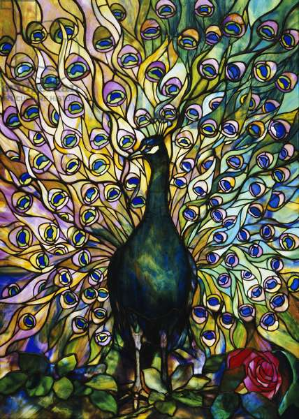 Peacock (stained glass)