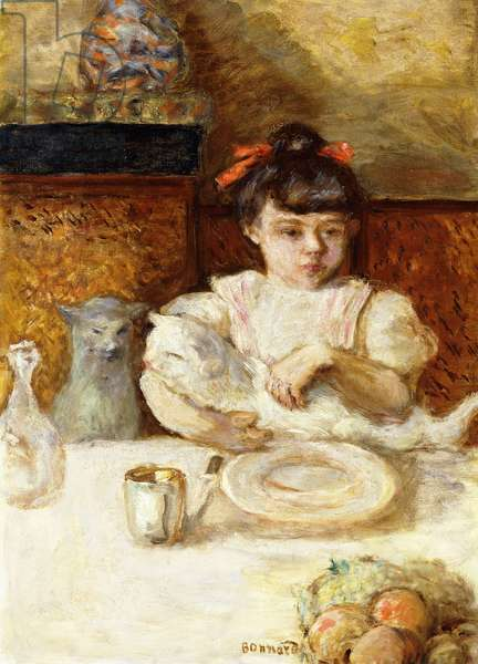 Child and Cats; Enfant et Chats, c.1906 (oil on canvas)