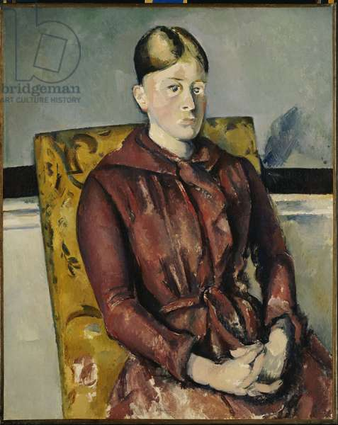 Madame Cezanne with a Yellow Armchair, 1888-90 (oil on canvas)