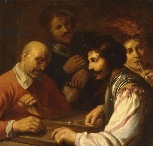 Tric-Trac Players in an Inn, c.1623-5 (oil on canvas)