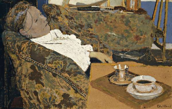 The Artist's Mother Reclined; La Mere de L'Artiste se Reposant, c.1897 (oil on board cradled on panel)