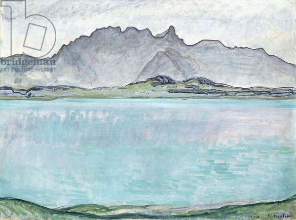 Thunersee with the Stockhorn Mountains, 1910 (oil on canvas)