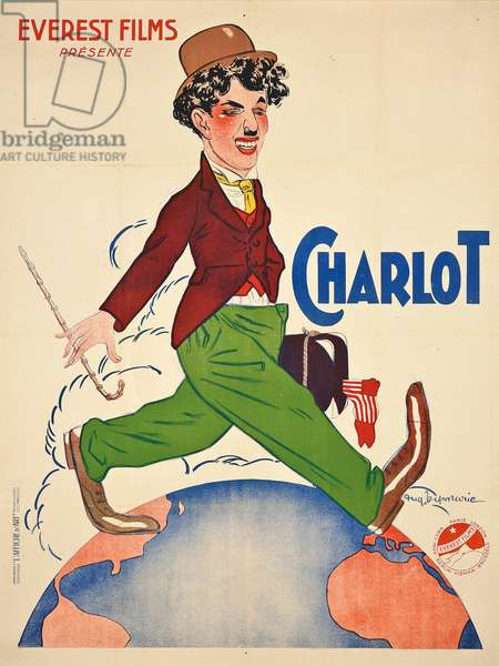 A French Charlie Chaplin poster as the Little Tramp (Charlot), 1918 (colour lithograph)