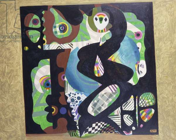 Dance of the Minerals, 1973 (acrylic on canvas)