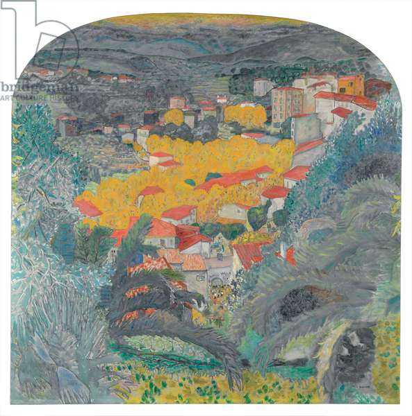 View of Le Cannet; Vue du Cannet, 1927 (oil on canvas)