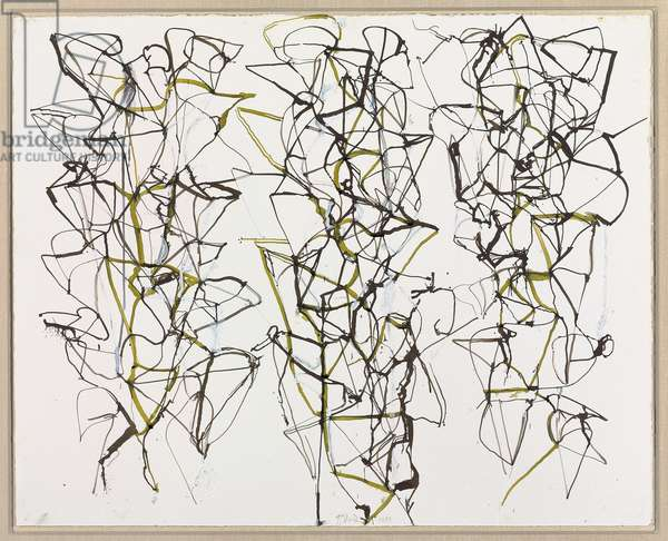 Untitled with Green, 1989 (ink and gouache on paper)