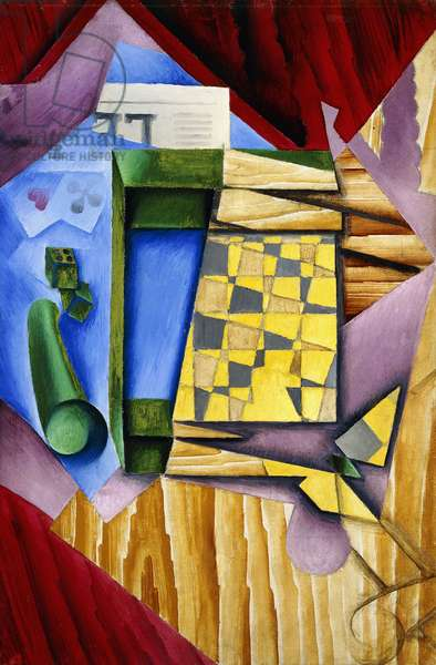 Backgammon, 1913-14 (oil on canvas)