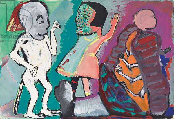 Untitled, c.1981 (oil and gouache on card)
