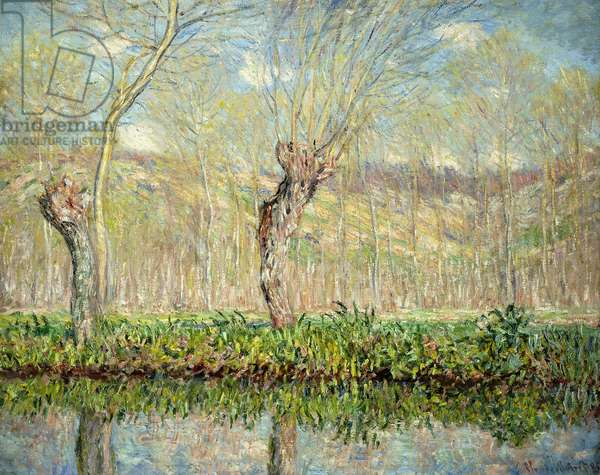 Spring, the Border of l'Epte; Printemps, Bord de l'Epte, 1885 (oil on canvas)