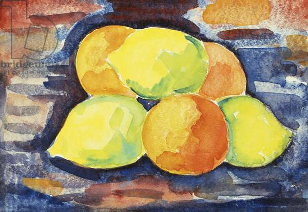 Fruit Still Life,  (watercolour and pencil on paper)