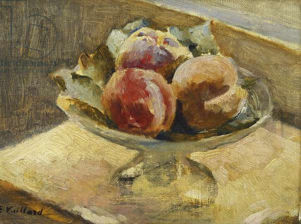 A Bowl of Peaches; Le Compotier de Peches, c.1889 (oil on canvas)