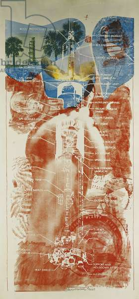 Sky Garden, 1969 (lithograph and screenprint in colours on wove paper)