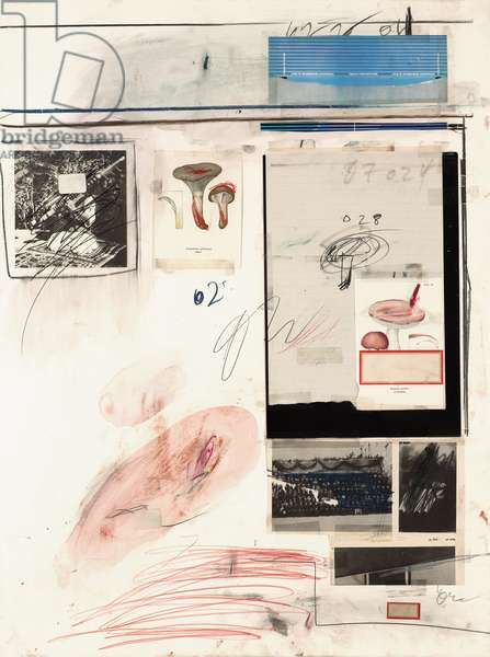 Untitled, 1974 (watercolour, wax crayon, tape, graphite, charcoal, printed paper)