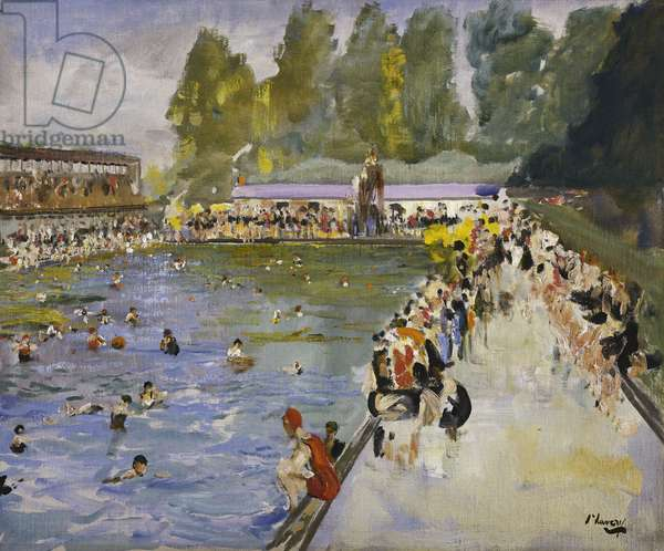 Chiswick Baths, c.1929 (oil on canvas)