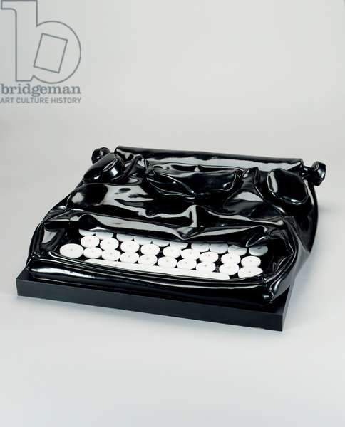 Soft Typewriter, 1963 (vinyl filled with kapok, plexiglas & nylon cord)