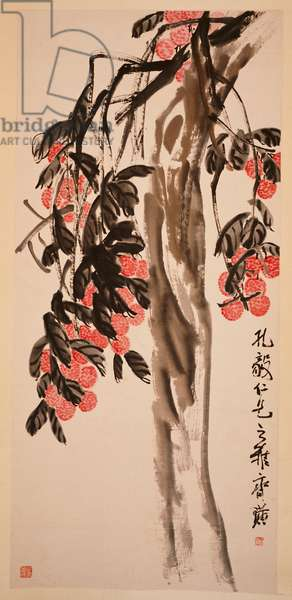 Lichee Tree (hanging scroll, ink and colour on paper)