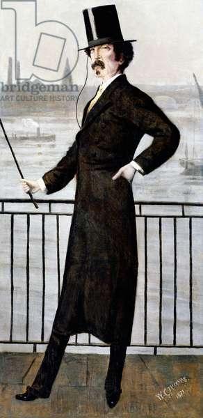 James Abbott McNeill Whistler on the Widow's Walk at his House in Lindsey Row, Chelsea, 1871 (oil on canvas)