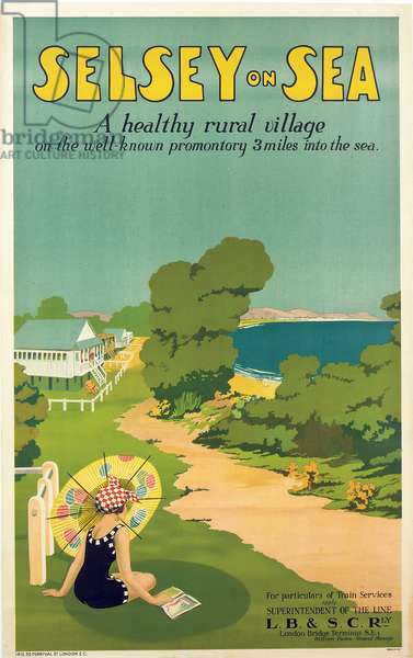 Poster advertising Selsey-on-Sea, 1922 (colour litho)
