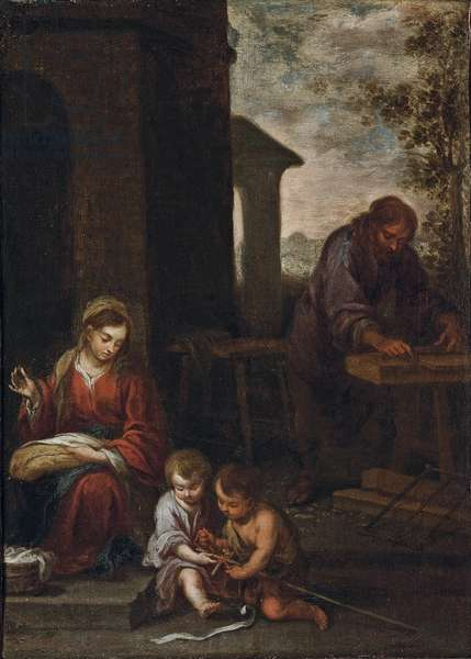 The Holy Family with the Infant St. John the Baptist, 1660-70 (oil on canvas)