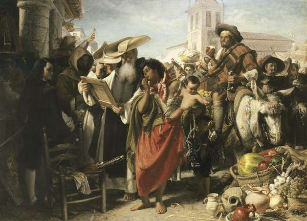 The Early Career of Murillo, 1865 (oil on canvas)