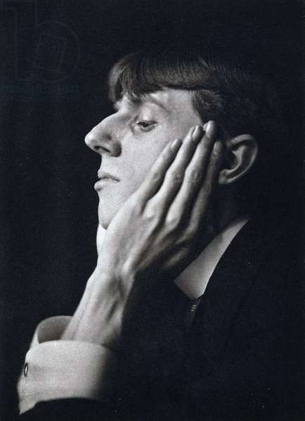 Aubrey Beardsley, 1894, 1894 (platinum print, mounted on buff paper, gilt paper border)