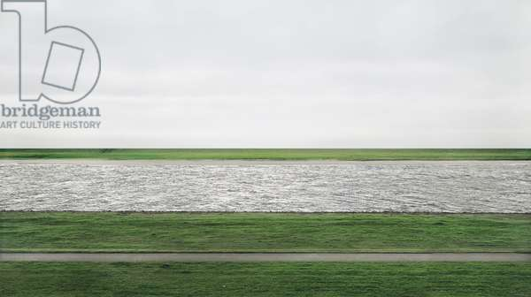 Rhein II, 1999 (chromogenic colour print face-mounted to Plexiglas)