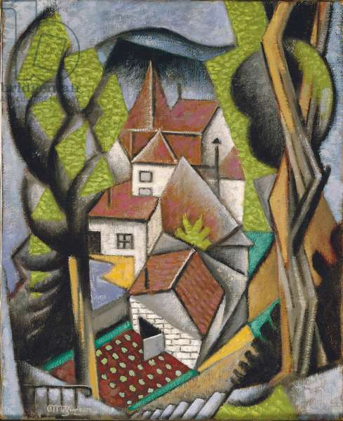 Cubist Landscape, 1916 (oil on canvas)