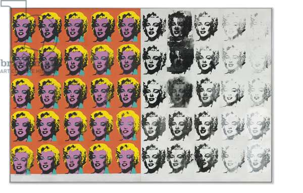 Warhol Diptych, 1973 (silkscreen inks, synthetic polymer & acrylic on canvas)