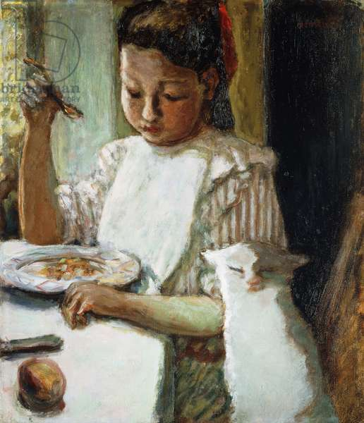 Infant and Cat; L'Enfant au Chat, c.1906 (oil on canvas)