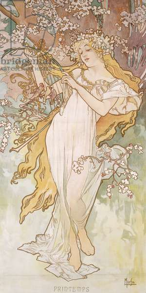 Spring; Printemps, c.1896 (lithograph in colours)
