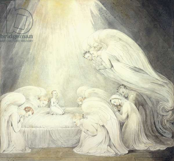The Infant Jesus Saying His Prayers, c.1805 (pen and grey ink, watercolour over pencil)