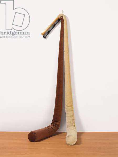 Two Bats, 1968 (wood, linen, foam rubber, imitation horsehair; in two parts)