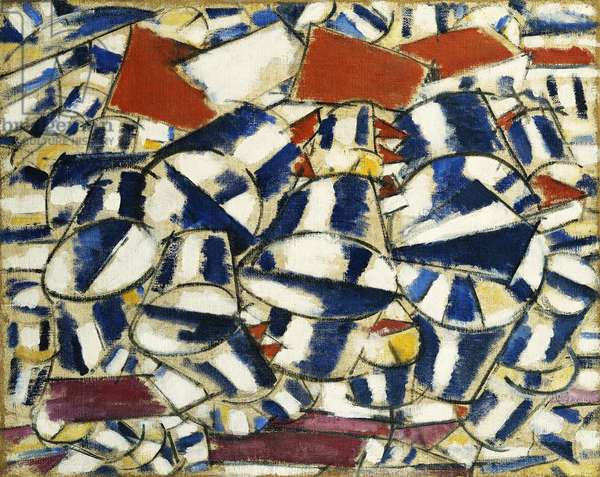 Contrasting Forms; Contrastes de Formes, 1913 (oil on canvas)