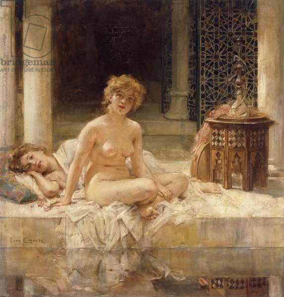 After the Bath, (oil on canvas)