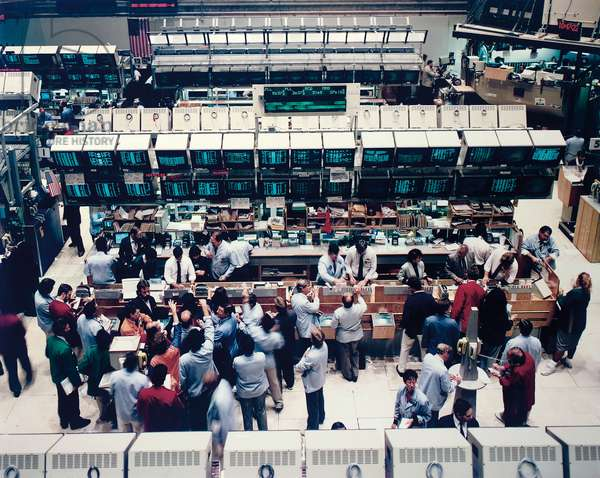 New York, Stock Exchange, 1991 (chromogenic colour-print laminated to Plexiglas)