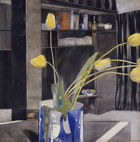 Yellow Tulips, c.1922-23 (w/c)
