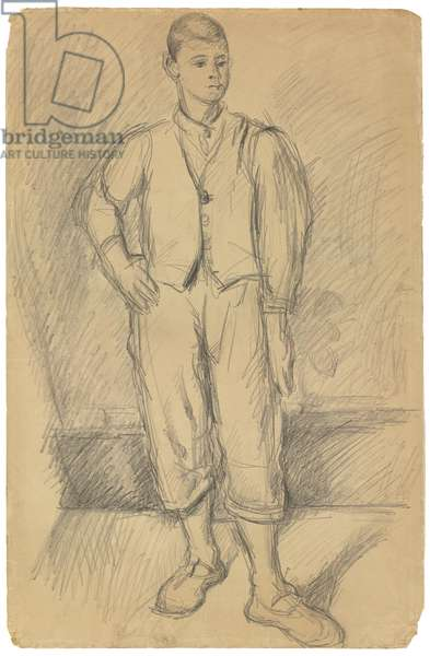 Portrait of the Artist's Son; Portrait du fils de l'Artiste, c.1875-1885 (pencil on paper)