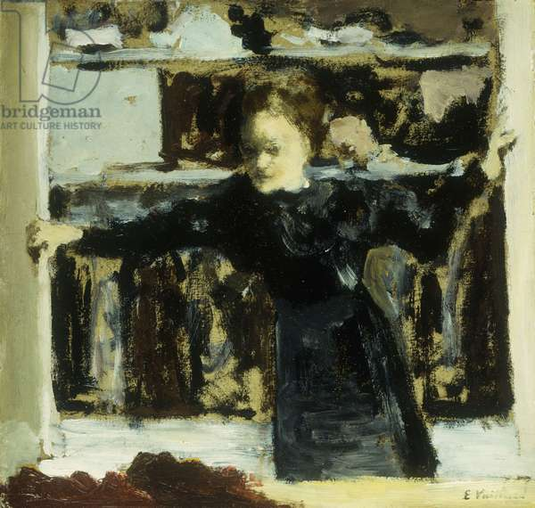 Woman Opening a window; Femme Ouvrant la Fenetre, 1893 (oil on board)