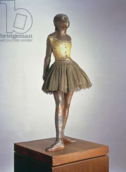 The Little Dancer (Petite danseuse de quatorze ans) 1921 (polychrome bronze, satin ribbon & wood)