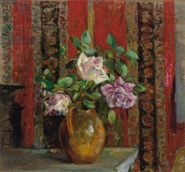 Roses in a Pitcher; Roses dans un Pichet, c.1905 (oil on canvas)